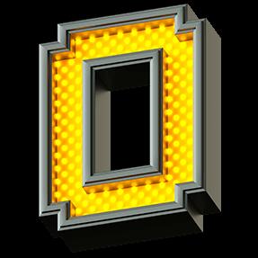 Yellow Pixel LED Font