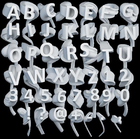 3d Path modern Font
