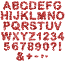 Hearts red Font