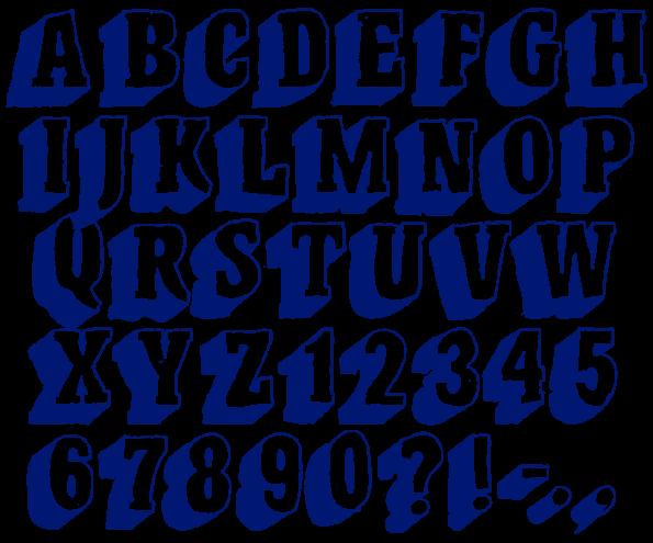 Pen Font letters