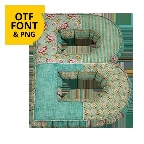 Vintage Gobelin Font Letter B