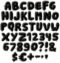 Black Party Font letters