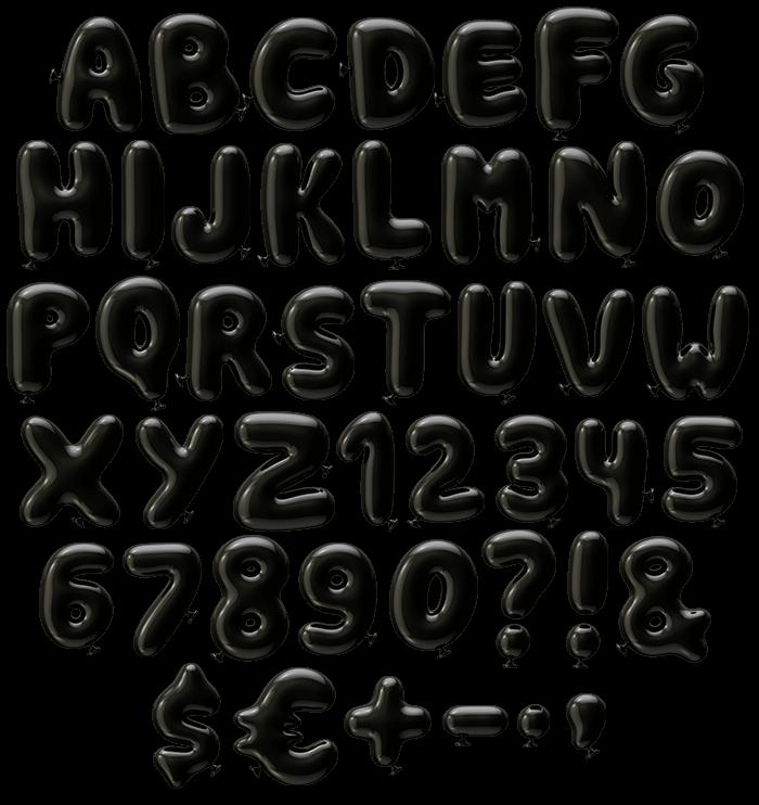 Black Party Font letters