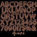 Brown Fur Font letters