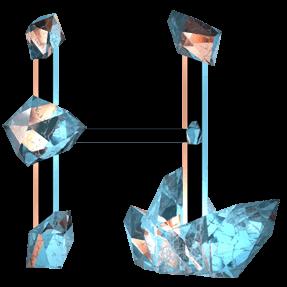 Crystal Diamond Font Letter H