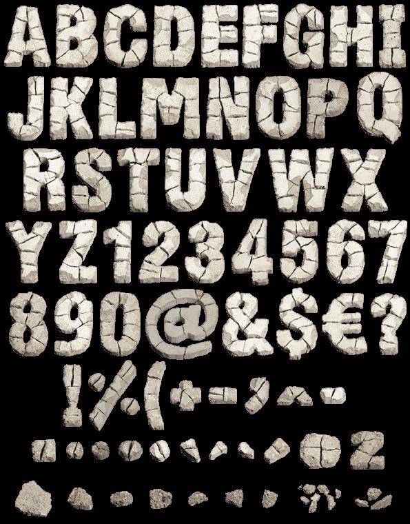 Demolition Font letters