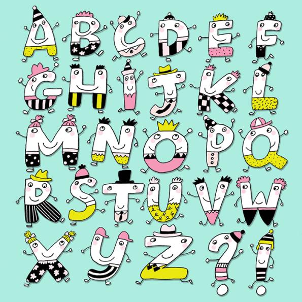 Funny Letter Alphabet
