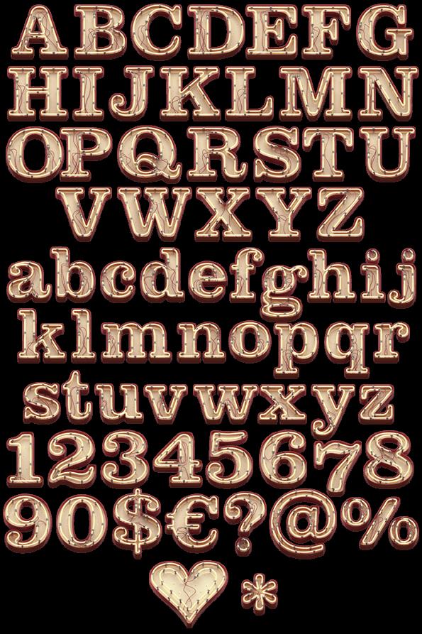 Neon Font letters