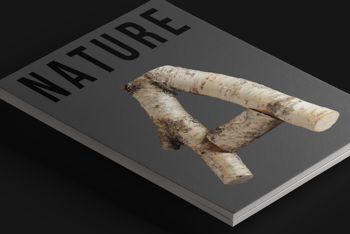 Magazine cover with Russian Soul Font Wooden OpenType Typeface Made By Handmade Font