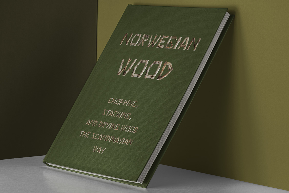 Book cover with Russian Soul Font Wooden OpenType Typeface Made By Handmade Font