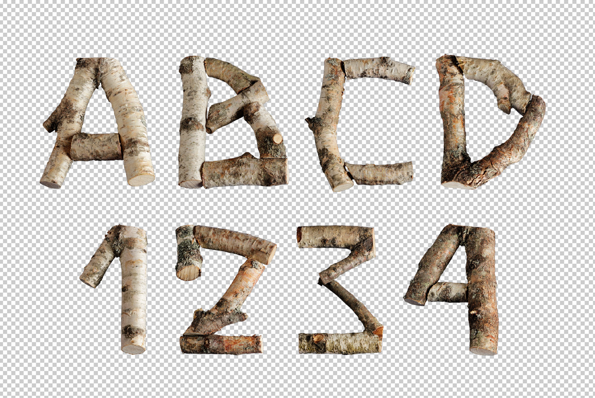 Photoshop test of the Russian Soul Font Wooden OpenType Typeface Made By Handmade Font