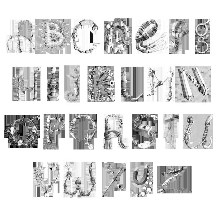 Sunny Night alphabet