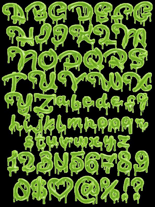 Toxic Green Font