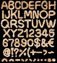 Weaving font alphabet