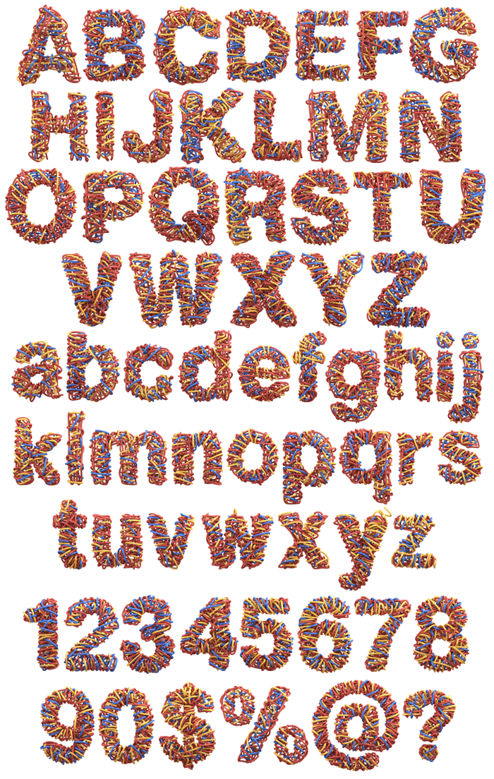 Colorwires letters
