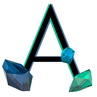 Crystal Diamond Blue Font