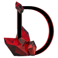 Crystal Red Diamond Font