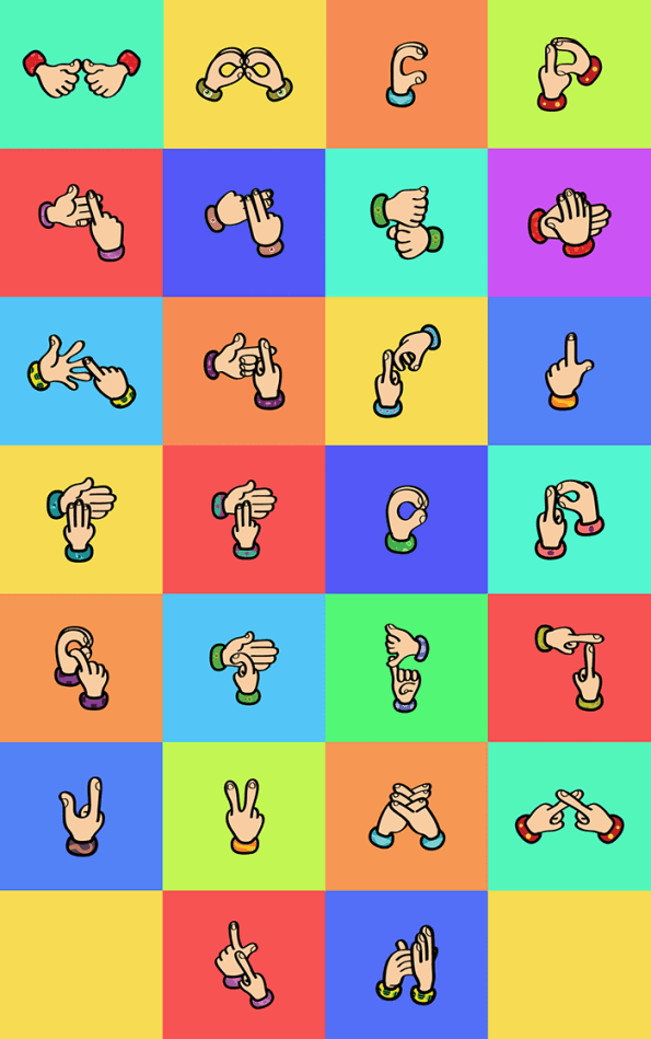 Indian Hand Signs Font