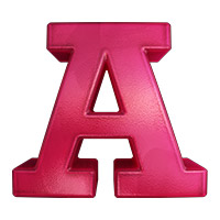 Pink Jelly Font. Letter A