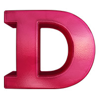 Pink Jelly Font. Letter D