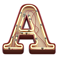 Neon Lamp Font