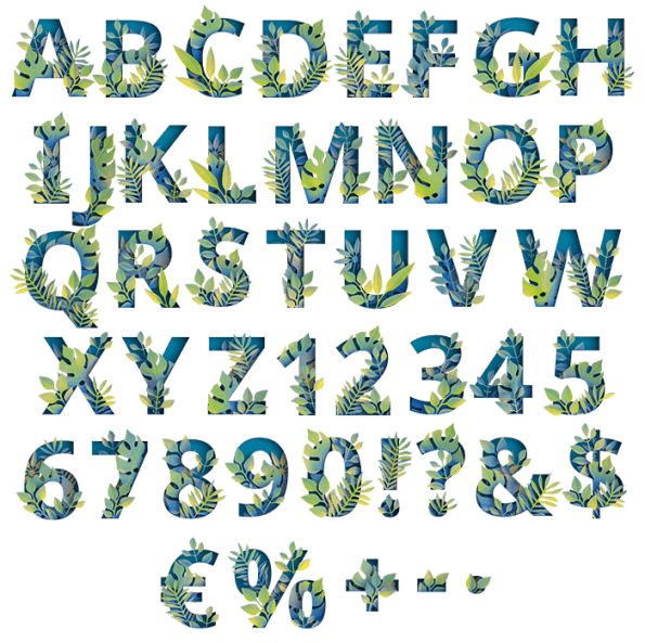 Green Eco Paper Jungle Font