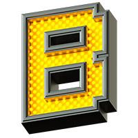 Pixel LED Font. Letter B