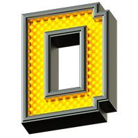 Pixel LED Font. Letter D