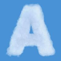 Sky Cloud Font. Letter A