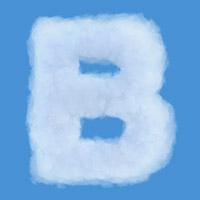 Sky Cloud Font. Letter B