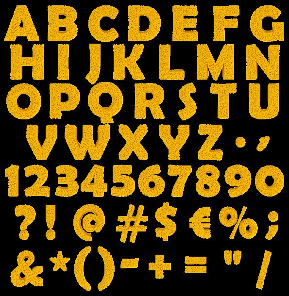 yellow Sponge Letters