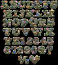Button Khaki Font Alphabet