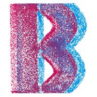 3D Chalk Font Letter B