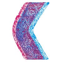 3D Chalk Font Letter C