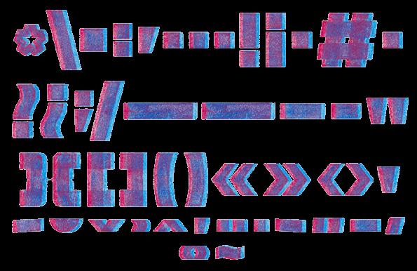 3D Chalk Font