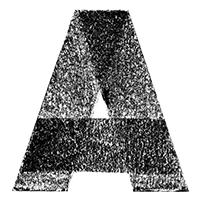 Black 3D Chalk Font Letter A