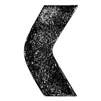 Black 3D Chalk Font Letter C