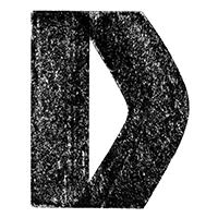 Black 3D Chalk Font Letter D