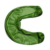 Green Blowup Font Letter C