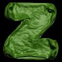 Green Blowup Font Letter Z
