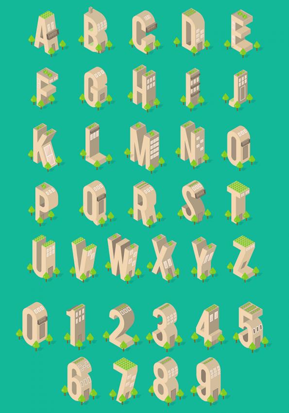 Building Wooden Font
