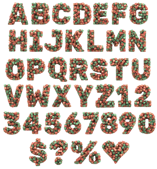 Christmas Presents Gift Box Font