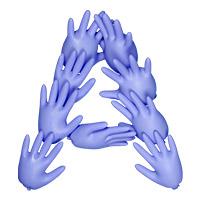 Rubber Glove Font Letter A