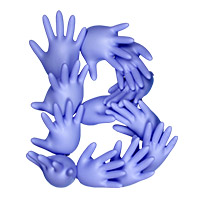 Rubber Glove Font Letter B
