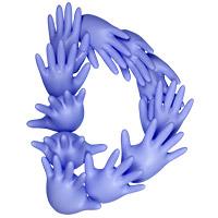 Rubber Glove Font Letter D