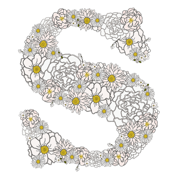 Camomile Foral Flower Font