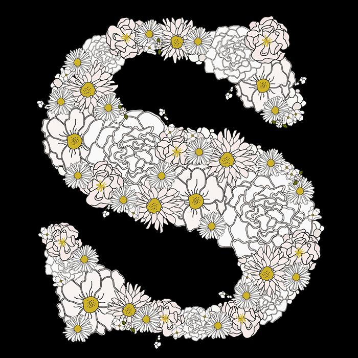 Camomile Foral Flower Font