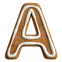 Gingerbread Font Letter A