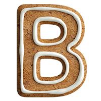 Gingerbread Font Letter B