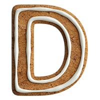 Gingerbread Font Letter D